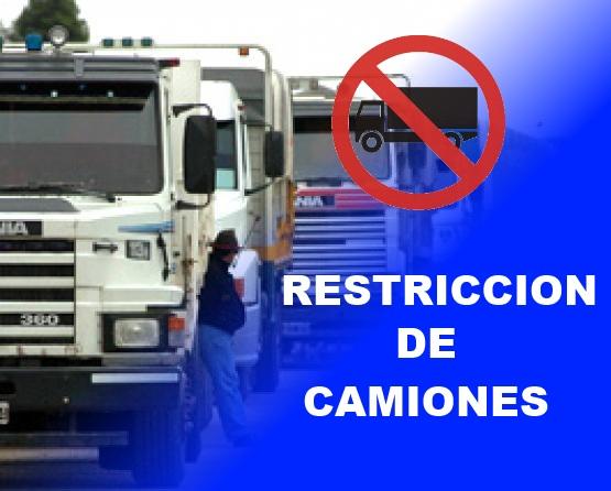 Restricciones a la circulación de camiones